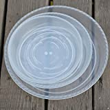 12-pc Sturdy Clear Plant Pot Saucers Trays Resin for Outdoor Indoor plants Assorted 4 Size of 6''/8''/10''/12''