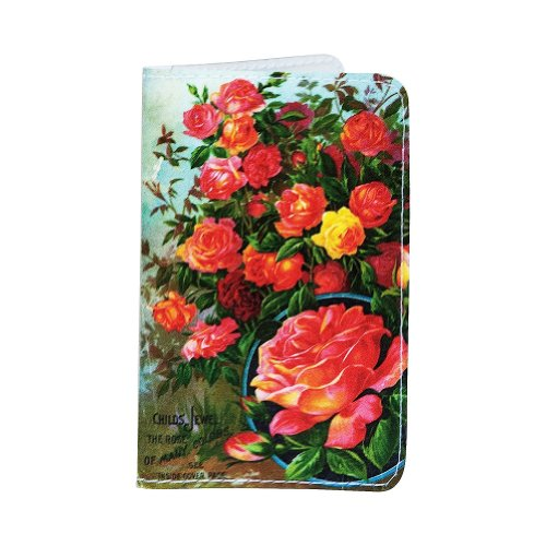 Rose Plants Business, Credit & Id Card Holder