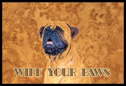 Caroline's Treasures Mastiff Wipe Your Paws Indoor or Outdoor Mat, 18' x 27', Multicolor