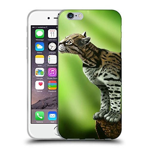 """Just Phone Cases Coque de Protection TPU Silicone Case pour // V00004283 chat ocelot dans la faune sauvage // Apple iPhone 6 4.7"""""""