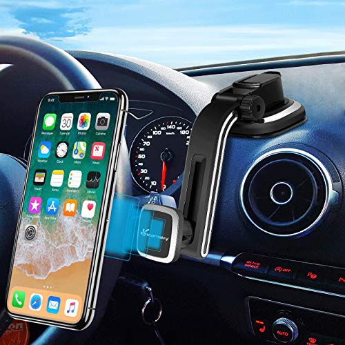 Magnetic Phone Car Mount Dashboard – Vansky Hands Free Phone Holder for Car, Strong Grip Cell Phone Car Mount for iPhone Xs Max R X 8 Plus 7 6s Samsung Galaxy S9 S8 Edge S7 S6 Note 9