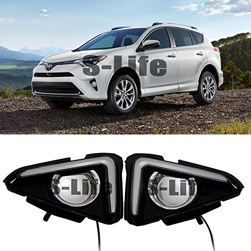 [해외]2016-2017 Plastic Front Fog Light DRL Daytime Running Lights For Toyota RAV4 / 2016-2017 Plastic Front Fog Light DRL Daytime Running Lights For Toyota RAV4