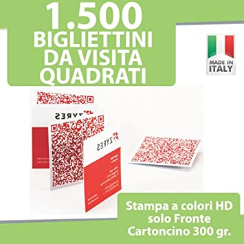 1500 Visitenkarten Quadratische Karten Druck Nur Vor A