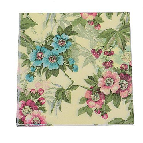 HUELE 60 pcs Floral Paper Napkins for Thanksgiving