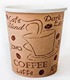 z ware - Disposable Espresso Coffee Cups - 4 Ounce - Café Design to Go Hot Cup - The Perfect Gift for the Espresso Lover in Your Life - 200 count
