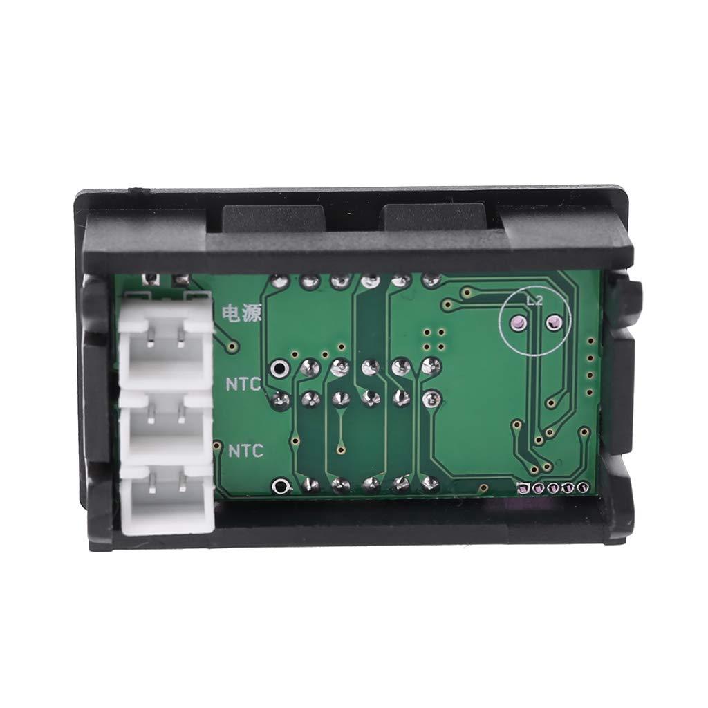 wentingZWT Thermometer f/ür Auto Motorrad Dual Display DC 5 V-80 V Thermometer w2 NTC Wasserdicht Temperatursensor 12 V 24 V 72 V