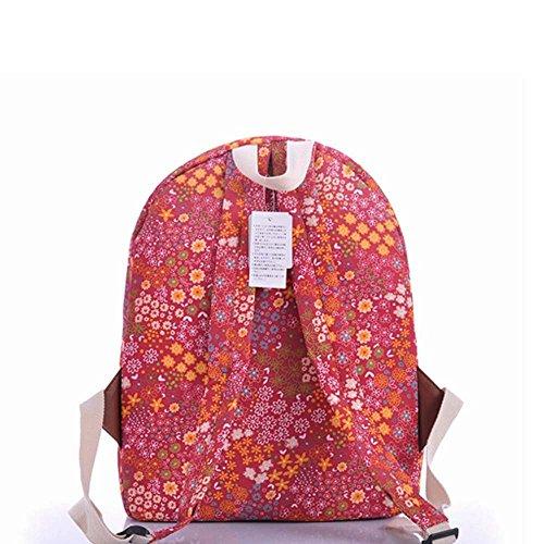 OUFLY lindo amarillo claro y crisantemo pastoral estilo lona mochila mochila de impresión de viajes Daypack impreso mochila hombro bolsa mochila escuela escuela bolsa para mujeres Damas Chicas Pastoral Flores Coloridas