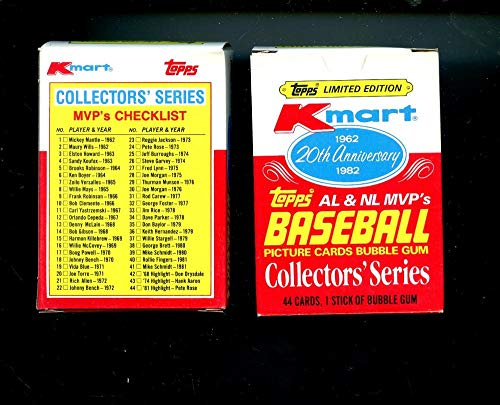 1982 Topps Baseball Kmart 20th Anniversary Complete Box Set K-Mart WEAR READ from K-mart
