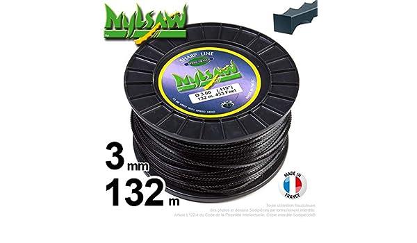 Hilo de nailon Nylsaw Dentón desbrozadora 3 mm, rollo 132 m ...