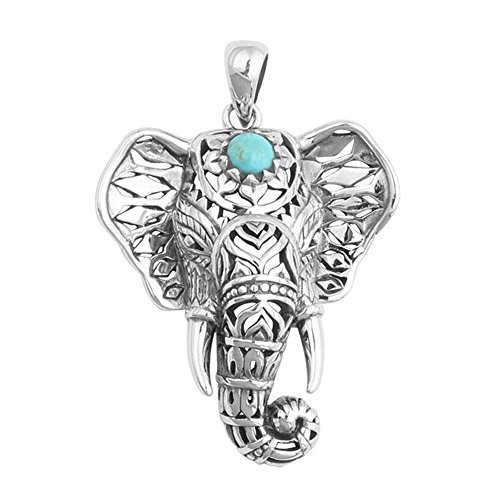 Cheap ZHUOTOP 1x Popular Gypsy Ethnic Style Elephant Necklace for Women for cheap