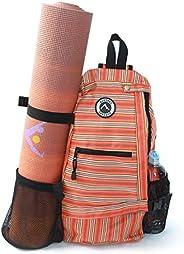Aurorae Yoga Multi Purpose Cross-Body Sling Back Pack Bag. Mat Sold Separately.
