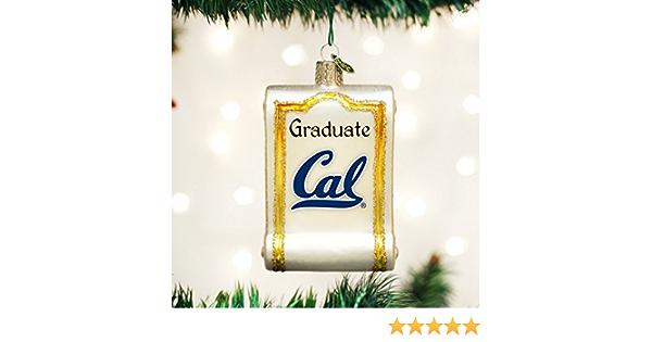 Old World Christmas California Berkeley Flag Glass Blown Ornament