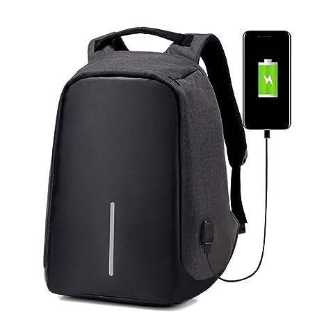 19f629106b BSTcentelha Zaino antifurto con porta USB, casual, impermeabile, leggero,  per scuola/