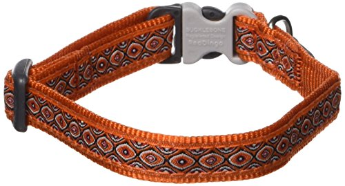 Red Dingo Designer Dog Collar, Small, Bonorama Orange