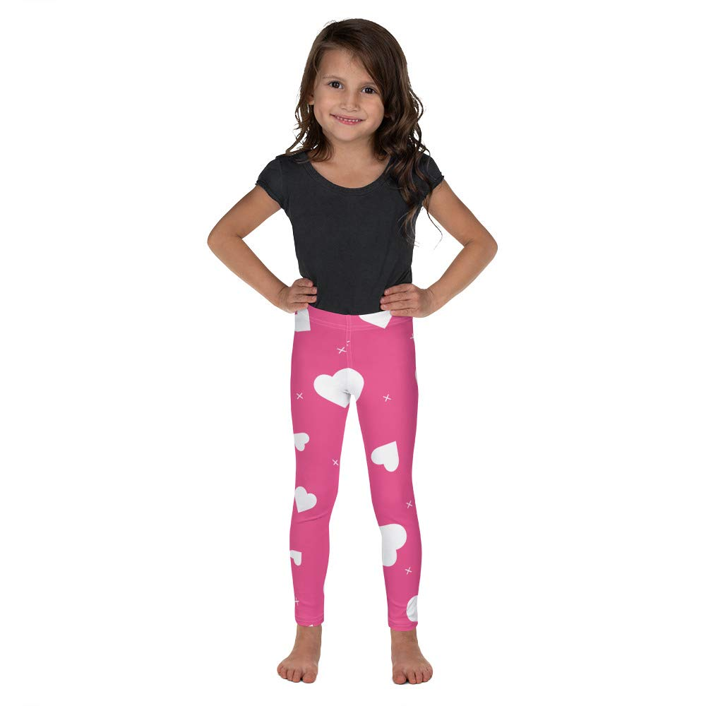 Alpha5StarDeals Hearts All Over Valentines Day Kids Leggings