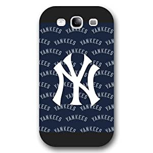 ArtPopTart Galaxy S3 Case,Fashion MLB New York Yankees Samsung Galaxy S3 Case [Black Frosted Hardshell],Coolest 2015 Cell Phone Case
