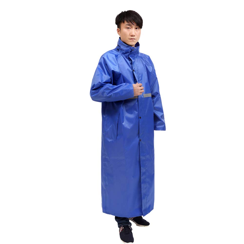 bluee Waterproof Double Poncho, Reusable Raincoat Adult Men and Women Thickening Cycling Suit
