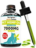 Hemp Oil for Dogs & Cats – 7000mg – Anxiety Relief for Dogs & Cats – Pet Hemp Oil – Supports Hip & Joint Health – Grown & Made in USA – Natural Relief for Pain – Omega 3, 6 & 9