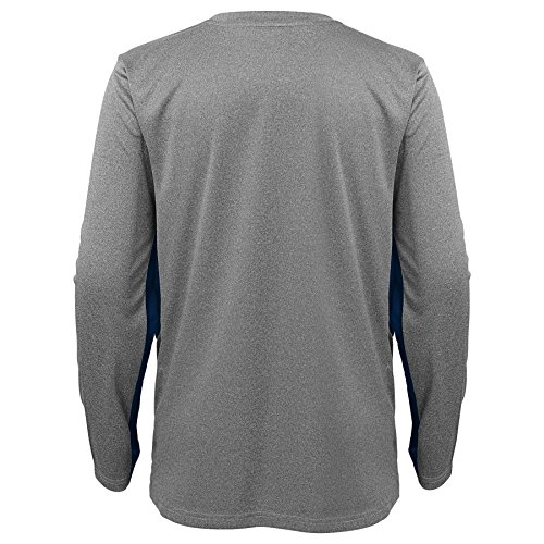 Los Angeles Rams NFL Youth Boys Gamma Short Sleeve Performance Tee-Steel Grey-L 14-16