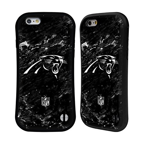 Official NFL Marble 2017/18 Carolina Panthers Hybrid Case for iPhone 6 / iPhone 6s