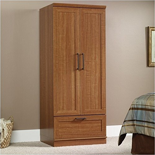 Pemberly Row Wardrobe Armoire in Sienna Oak Finish for sale  Delivered anywhere in USA