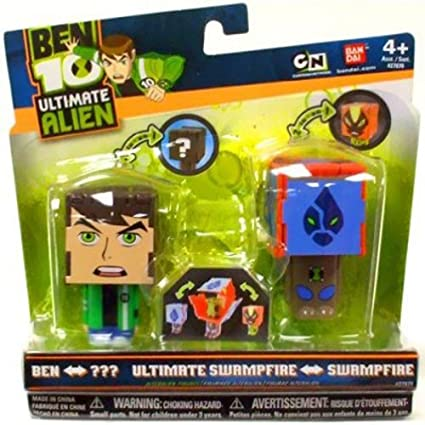 Amazon.com: Ben 10: Ben Anfibio y Swampfire a Ultimate ...