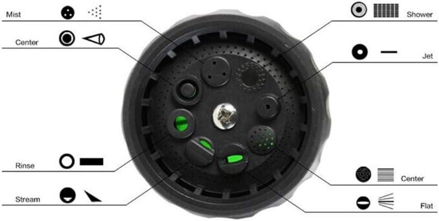 Multifunktions-8 in 1 Jet-Spritzpistole Seifenspender-Schlauch-D/üse-Hochdruckautow/äsche Reinigungswerkzeug Gartenbew/ässerung Gelb