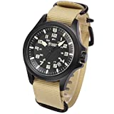 Shark Army Men's Sport Date Display Military Outdoor Khaki Nylon Strap Wrist Watch SAW088