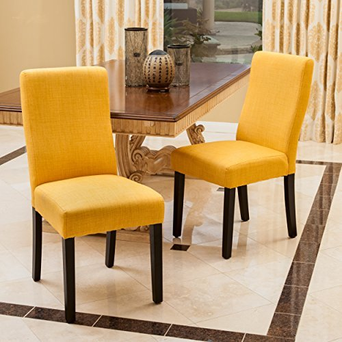 Heath Apricot Fabric Dining Chairs