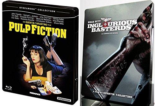 Pulp Fiction Steelbook & Inglorious Basterds Limited Edition Steelbook [Blu-ray] Quentin Tarantino Set