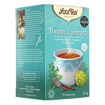 Amazon.com : Yogi Tea Throat Comfort Organic 30g - Pack of 2 ...