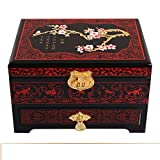 vintage jewelry box/Double lacquer Chinese without locking storage box/ storage jewelry box/ wedding gifts-A