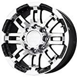 375 tires - Vision 375 Warrior Gloss Black Wheel with Machined Face (20x9