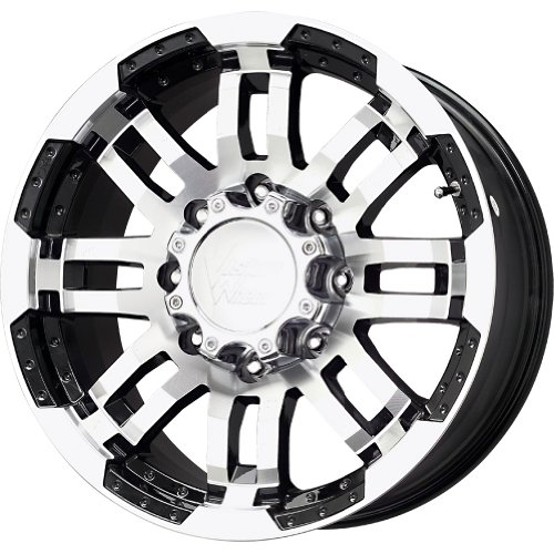 VISION 375 Warrior Gloss Black Wheel with Machined Face (...