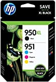 HP 950XL 951 Color Ink Cartridges, C/M/Y, Combo Pack (C2P01FN) (In Retail Packing)