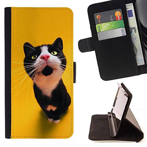 STPlus Gato en una caja Animal Monedero Carcasa Funda para Motorola Moto G4 / Moto G4 Plus #30