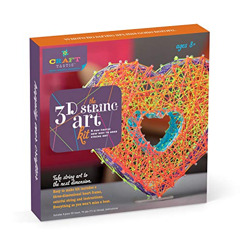 Craft-tastic – String Art Kit – Craft Kit Makes One 3D String Art Heart