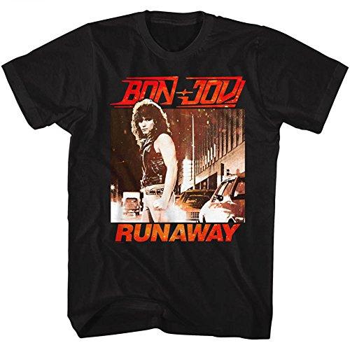 Rock shirt American Band Pour Jovi Homme Bon Runaway Classics Tee 0qvw7q5x