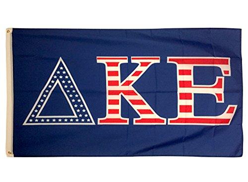 Delta Kappa Epsilon USA Letter Fraternity Flag Greek Letter Use as a Banner 3 x 5 Feet Sign Decor DKE Review