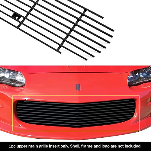 2001 Aluminum Grille - APS C86006H Black Powder Coated Grille Replacement for select Chevrolet Camaro Models