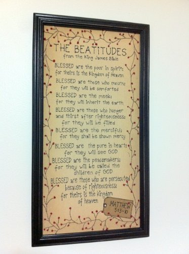 Ohio Wholesale King James Bible Framed Beatitudes