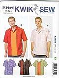KWIK-SEW PATTERNS Kwik Sew K3484 Men's Bowling Shirts Sewing Pattern, Size S-M-L-XL-XXL 3484