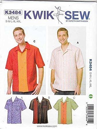 KwikSew Schnittmuster 3484 Hemd S-M-L-XL-XXL: Amazon.de: Küche ...