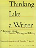 Thinking Like a Writer, Stephen V. Armstrong and Timothy P. Terrell, 1402403186