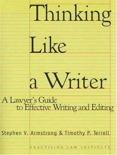 Writing an essay like a lawyer