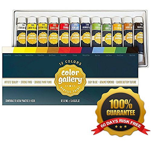 Ander Blake Acrylic Paint Set for Crafts, Painting on Canvas, Wood, Ceramics, Clay, Fabric, 12 (Bake Sale Halloween Ideas)