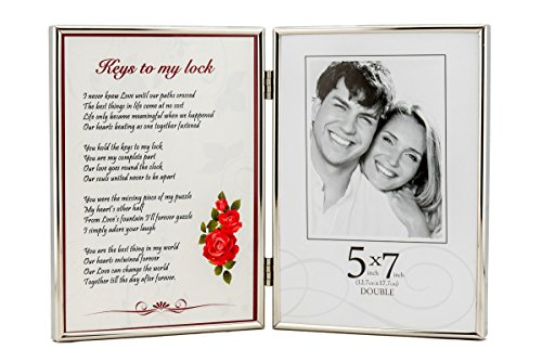 Romantic Poem and Picture Double Photo Frame. The Best Unique Anniversary Or Birthday Gift For Your Wife, Husband, Boyfriend, Girlfriend Or Soulmate.