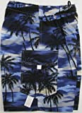 Boy's Shorts - Night Time Surf Elastic Waistband Inside Drawcord Cotton Flap Pocket Shorts in Blue - 12