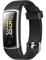 LATEC Montre Connectée, Fitness Tracker Podometre Smartwatch Bracelet Connecté IP68 Imperméable Tracker d'activité Moniteur de fréquence Cardiaque