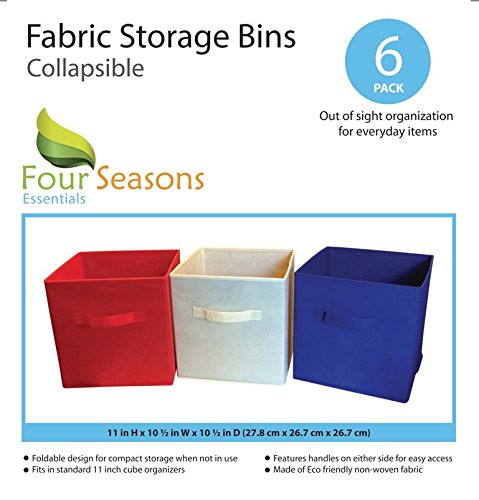 Amazon.com: Fabric Cube Storage Bins, Foldable (Set Of 6   Blue) Premium  Quality Collapsible Baskets, Closet Organizer Drawers. Perfect To Store  Kids Toys, ...